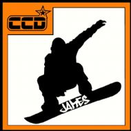 PERSONALISED SNOWBOARDING DECAL